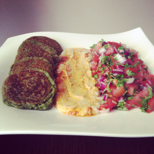 Falafels are great with hummus and tabbouleh!