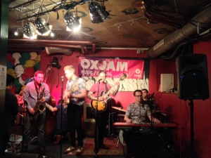 Dedication to the one I love - Ollie of The Reelers dedicates a song to his new bride at Oxjam Shoreditch Takeover
