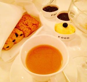 Vegan scones & rose tea at Sketch, London