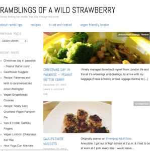 ramblings of a wild strawberry, return to peace, 2014 year in review