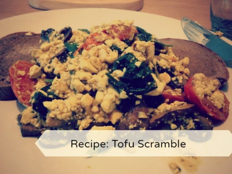 Delicious vegan protein boost of a breakfast - tofu scramble on toast