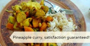 vegan sri lankan pineapple curry