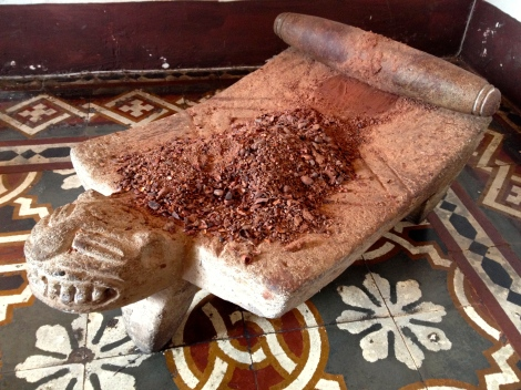 Raw cacao at the chocolate museum in Antigua, Guatemala