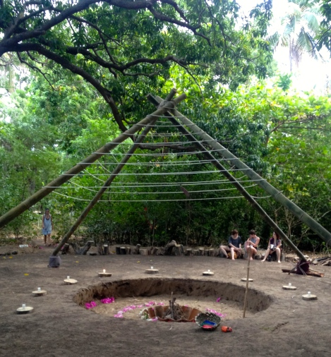 The healing space at Equilibrio festival, where I experienced my Cacao ceremony